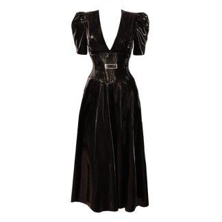 Atsuko Kudo Black Latex Midi Dress