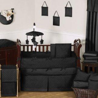 Baby Bedding Crib Set Black