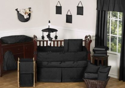 Baby Bedding Crib Set – Black