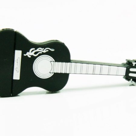 Black Guitar 4GB USB Flash Drive