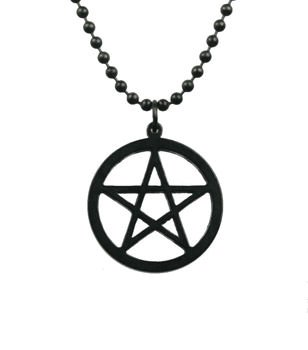 Black Pentacle Necklace