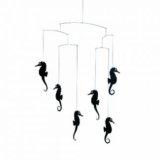 Black Seahorse Nursery Mobile