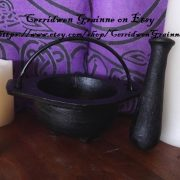 Cast Iron Mortar & Pestle - Black