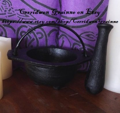 Cast Iron Mortar & Pestle - Black