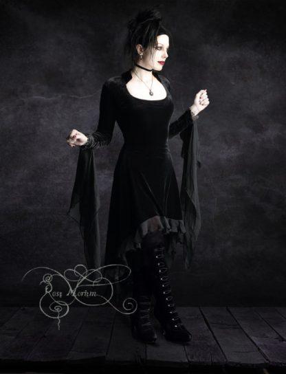 Circee Velvet Dress – Black