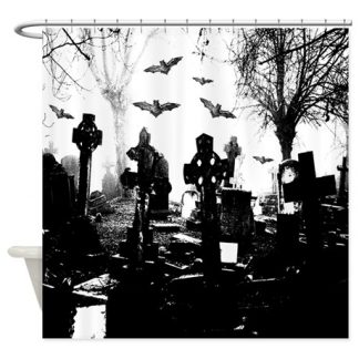 Gothic Cemetery Shower Curtain
