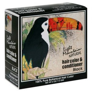 Light Mountain Natural Hair Color & Conditioner – Black