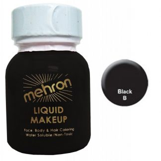 Mehron Liquid Face Paint Makeup - Black