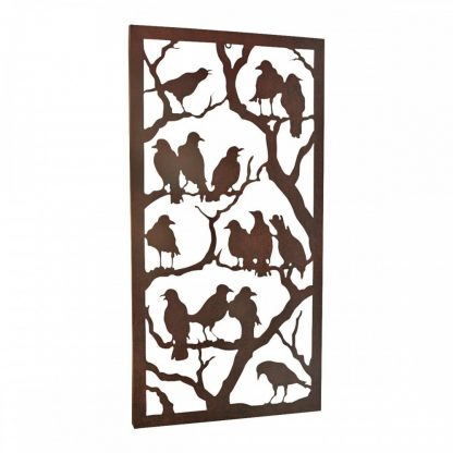 Ravens Metal Wall Sculpture – Antique Black