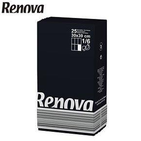 Renova Black Napkins