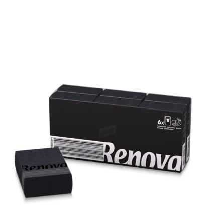 Renova Black Pocket Tissues