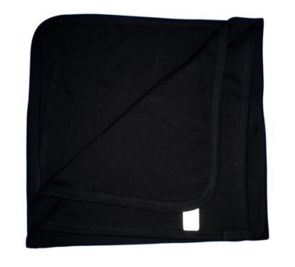 Soft Cotton Baby Blanket – Black