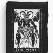 The Devil Tarot Card Duvet Cover