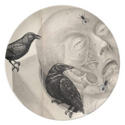 Crows & Corpse Dinner Plate