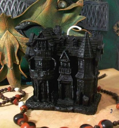 Black Haunted House Candle