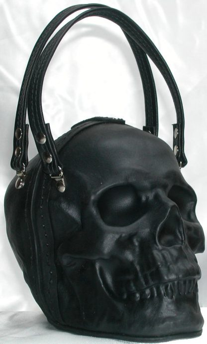 leather skull purse clutch