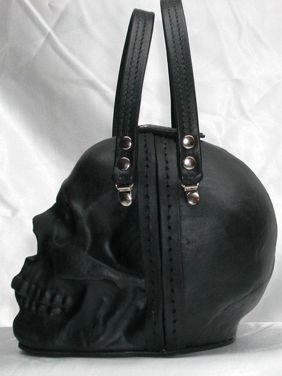 f7e800b517ba Black Leather Skull Purse – I Want It Black