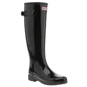 Hunter Original Refined Gloss Black Boot