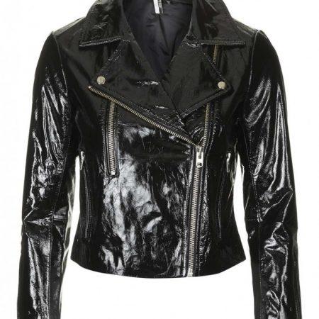 Patent Leather Biker Jacket