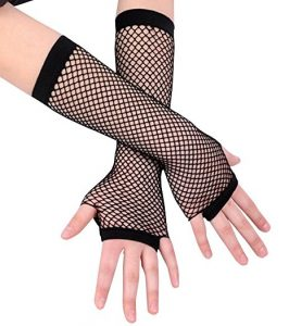 2 Pairs Long & Short Fishnet Emo Gloves