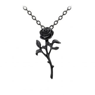 Alchemy England Black Rose Pendant