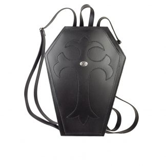 Black Leather Coffin Back Pack