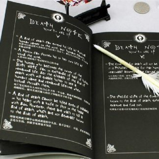 Death Note Notebook Feather Pen