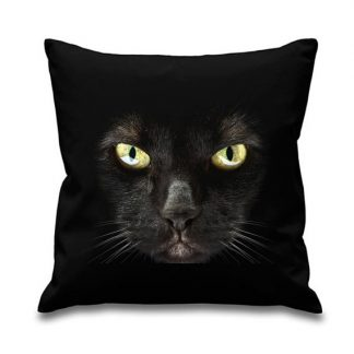 Black Cat Face Cushion