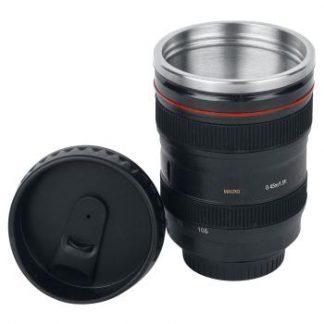 Camera Lens Mug with Lid