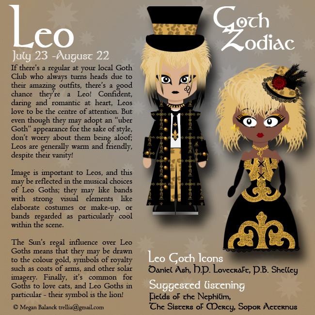 Goth Zodiac Leo by Trellia