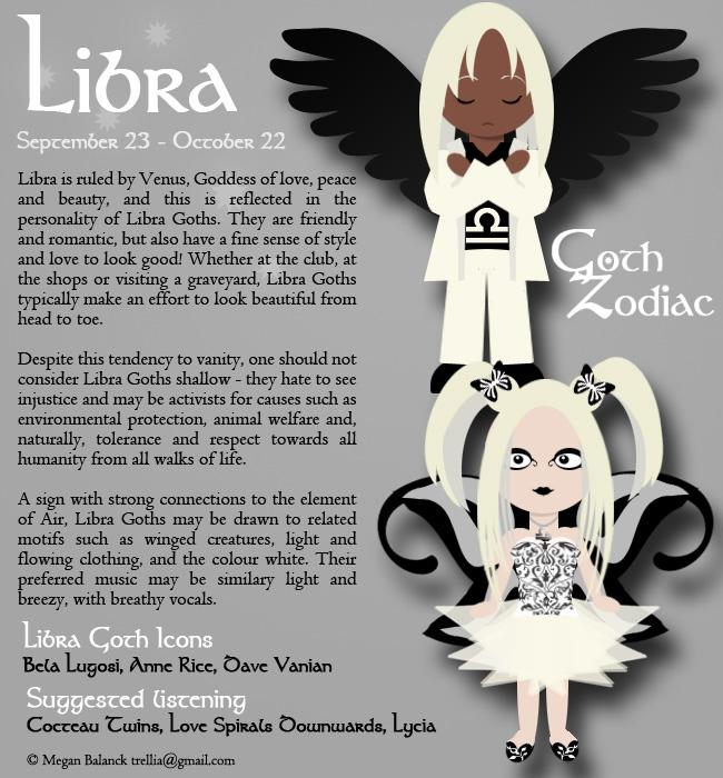 Goth Zodiac Libra by Trellia