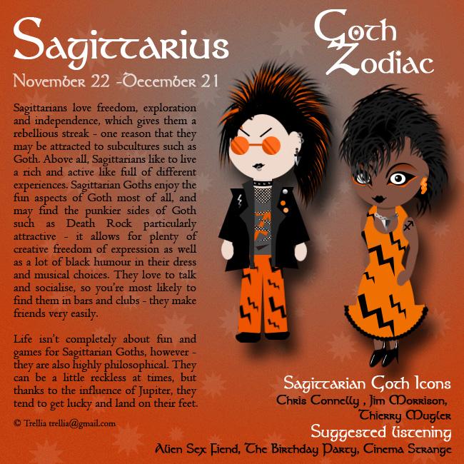 Goth Zodiac Sagittarius by Trellia