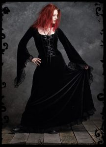 Angelique Black Velvet Gothic Wedding Dress