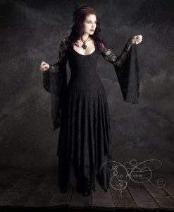 Annaleah Romantic Gothic Black Wedding Dress