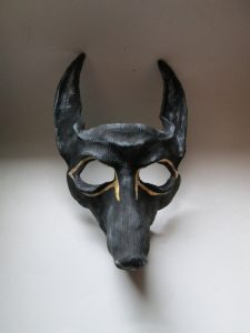 Anubis Egyptian Black & Gold  Costume Mask