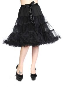 Banned Apparel Rockabilly Ribbon Petticoat - Black