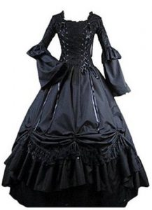 Long Black Gothic Victorian Dress