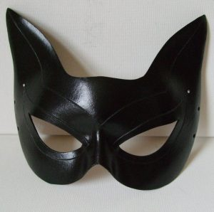 Black Leather Catwoman Mask