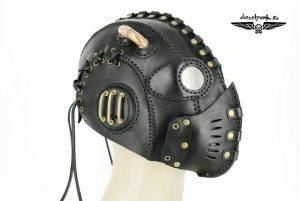 Black Leather Steampunk Mask