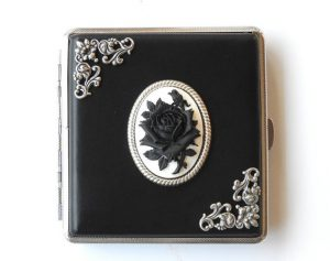 Black Rose Victorian Cigarette Case