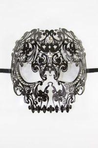 Black Skull Venetian Masquerade Mask
