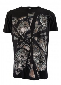 Darkside Clothing Black Horror Mirror Men's Psychobilly T-Shirt