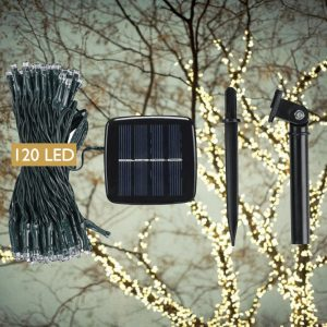 DeVida Solar String Lights for Outdoor Christmas Tree