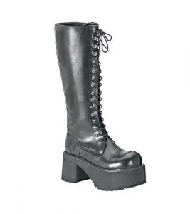 Demonia Ranger 302 Knee High Platform Goth Boots