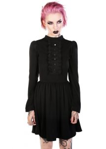 Disturbia Luna Black Gothic Dress