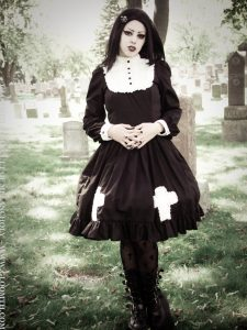 Gloomth Hymn Gothic Dress with Cross Appliques