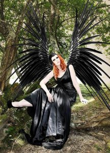 Gothic Black Dark Angel Wedding Dress