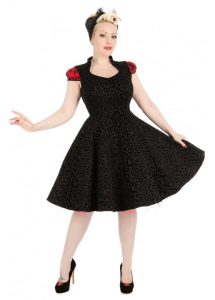 HR London Leopard Flocked Felina 50s Pin Up Dress