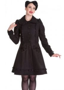 Hell Bunny Courtney Rockabilly Coat - Black