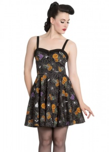 Hell Bunny Harlow Halloween Print Mini Dress